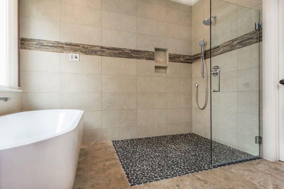 curbless entry walk-in showers from The Bath Shop